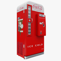 3d model coca cola vending machine