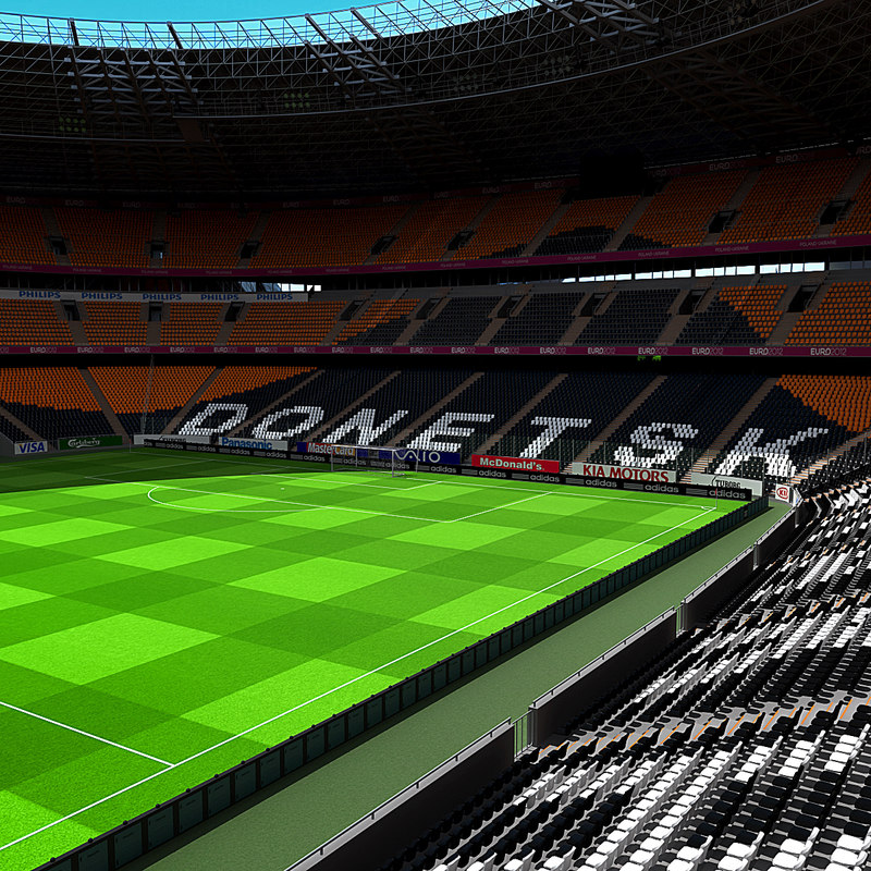 donbass arena ukraine 3d model