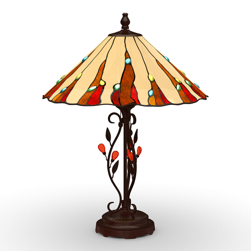 3ds max table lamp 3