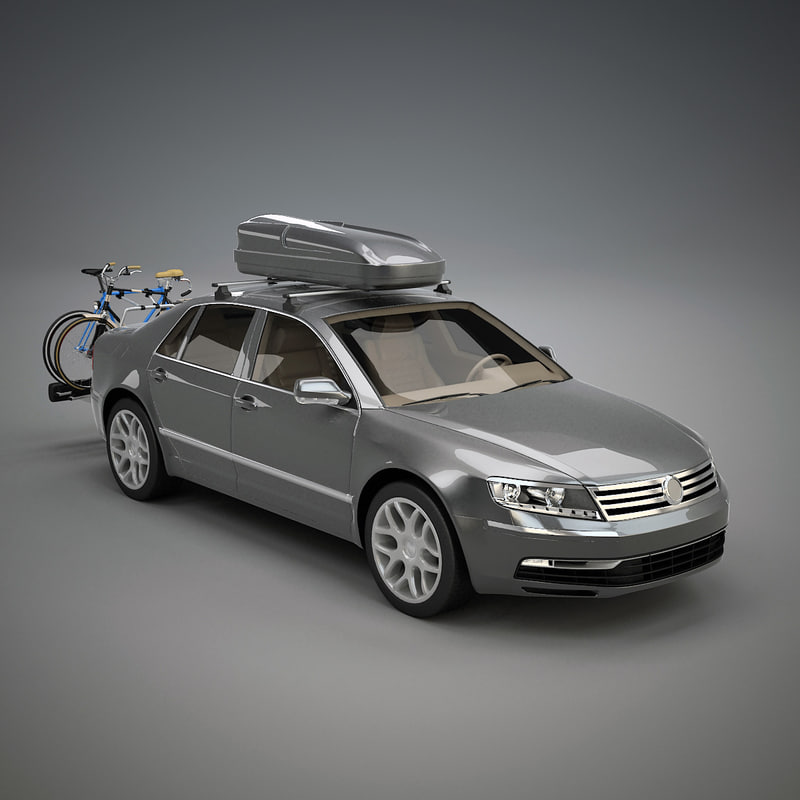 3d car bicycle carrier model