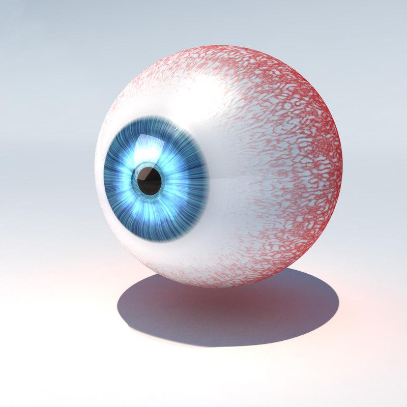 3d model of human eye animate -