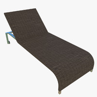 Wicker Sunlounger Dark