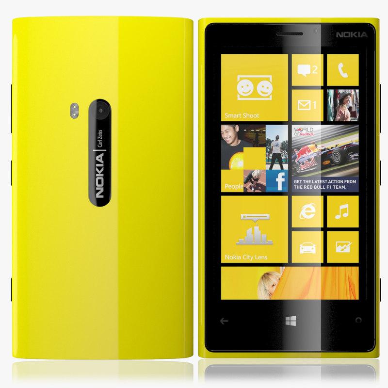 3d nokia lumia 920 model