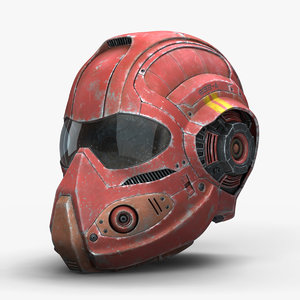 cyborg helmet 3d model