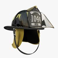 3ds max msa cairns fireman helmet