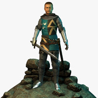 character knights 3d model