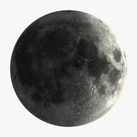 moon phases 3d model