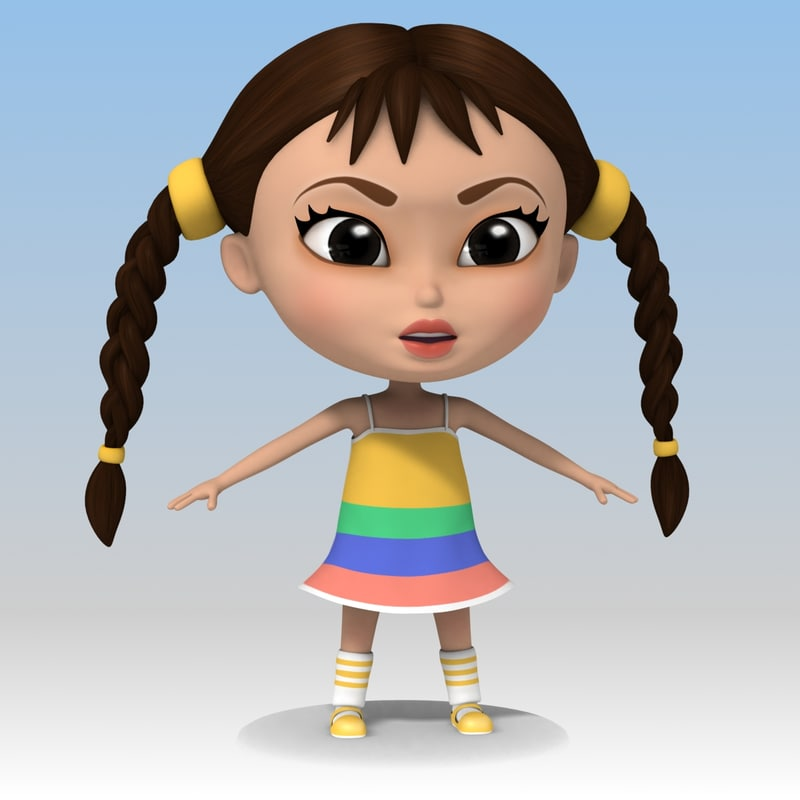 girl cartoon max