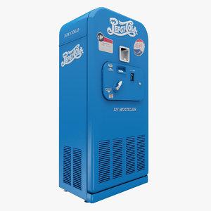 3d pepsi cola vending machine model