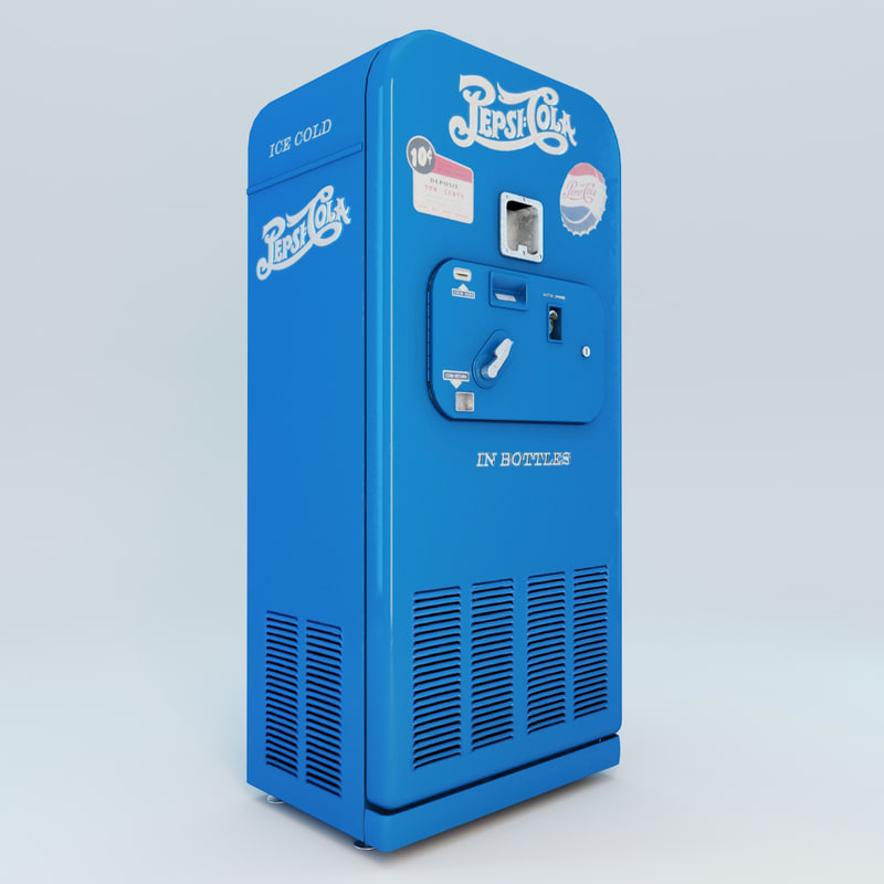 3d pepsi cola vending machine model