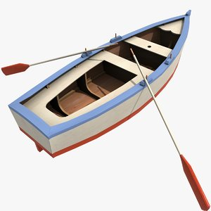 3d paddling boat model