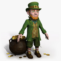 3ds max leprechaun gold character