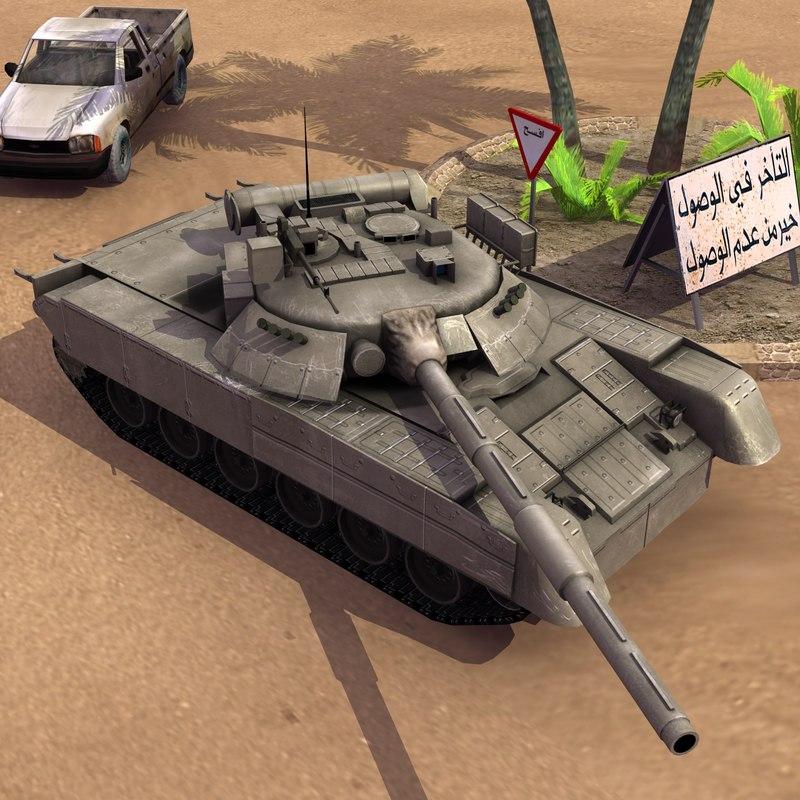 3d t80u main battle tank model