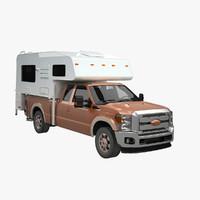truck camper 3d model