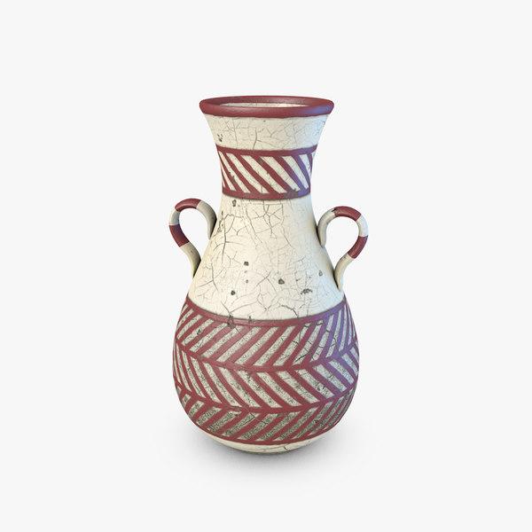 3d c4d ancient vase