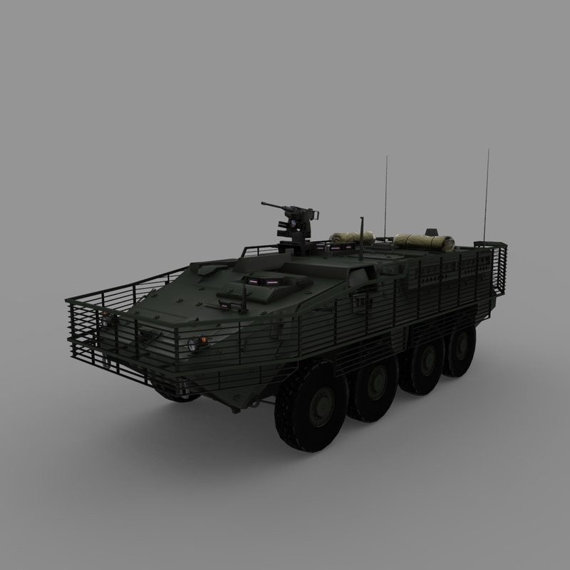 m1126 slat armor 3d model