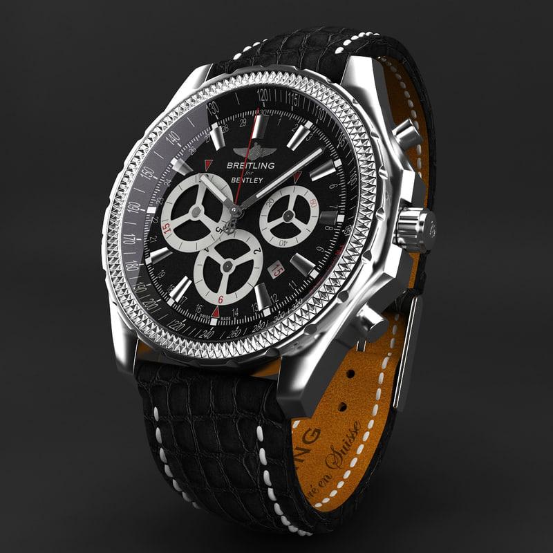 3ds max breitling barnato black modeled