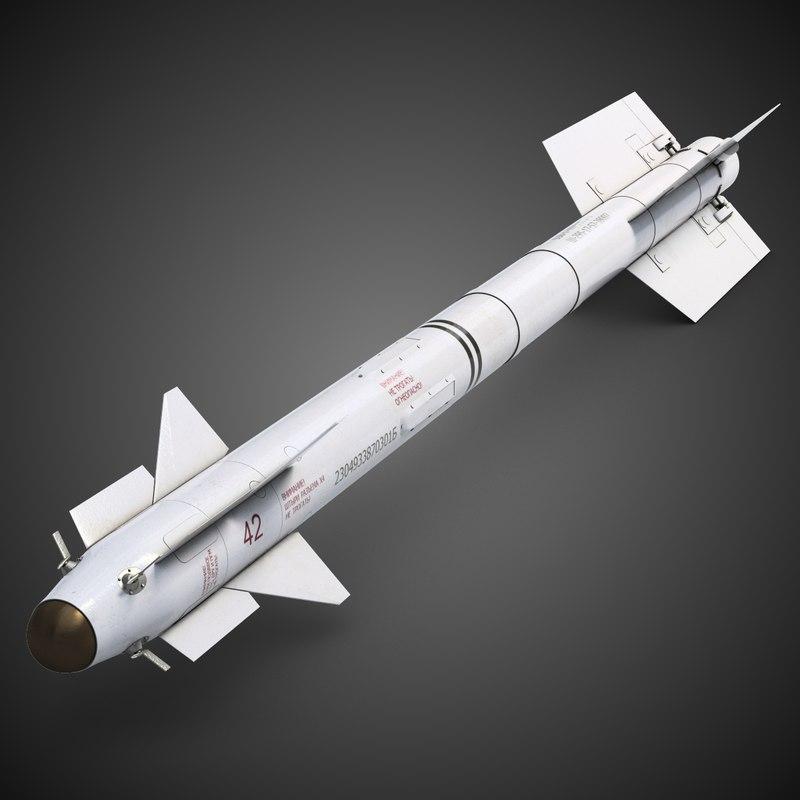 3d model of r-73 missile