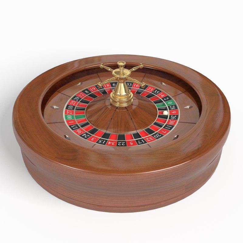 3d model american roulette wheel