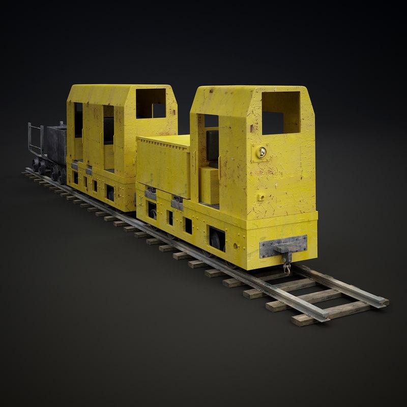 3d train materials model
