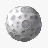 3ds max cartoon moon