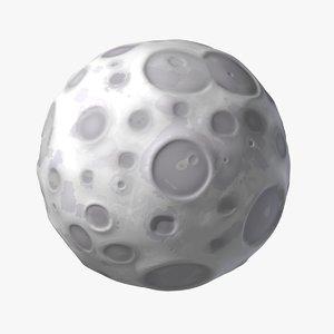 3ds max cartoon moon