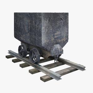 3d wagon materials model