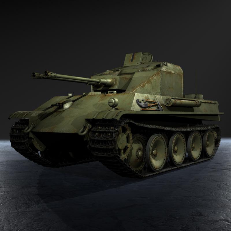 3d german wwii flakpanzer v
