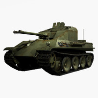 3d german wwii flakpanzer v