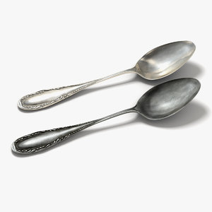 old spoon 3d model