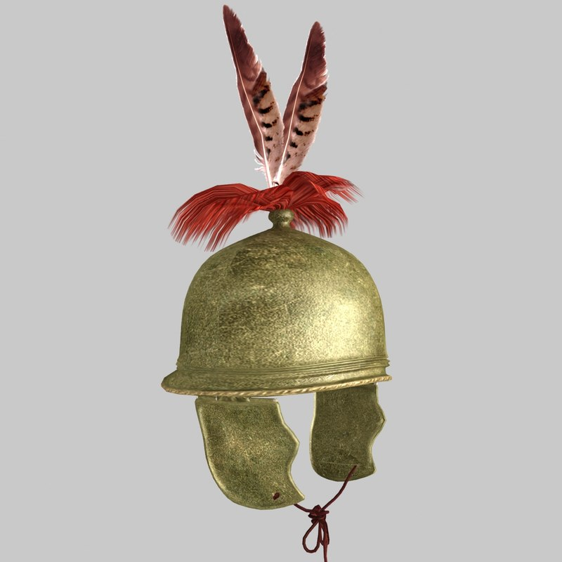 3d roman helmet montefortino model