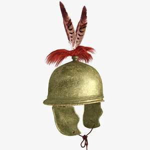 3d roman helmet montefortino model