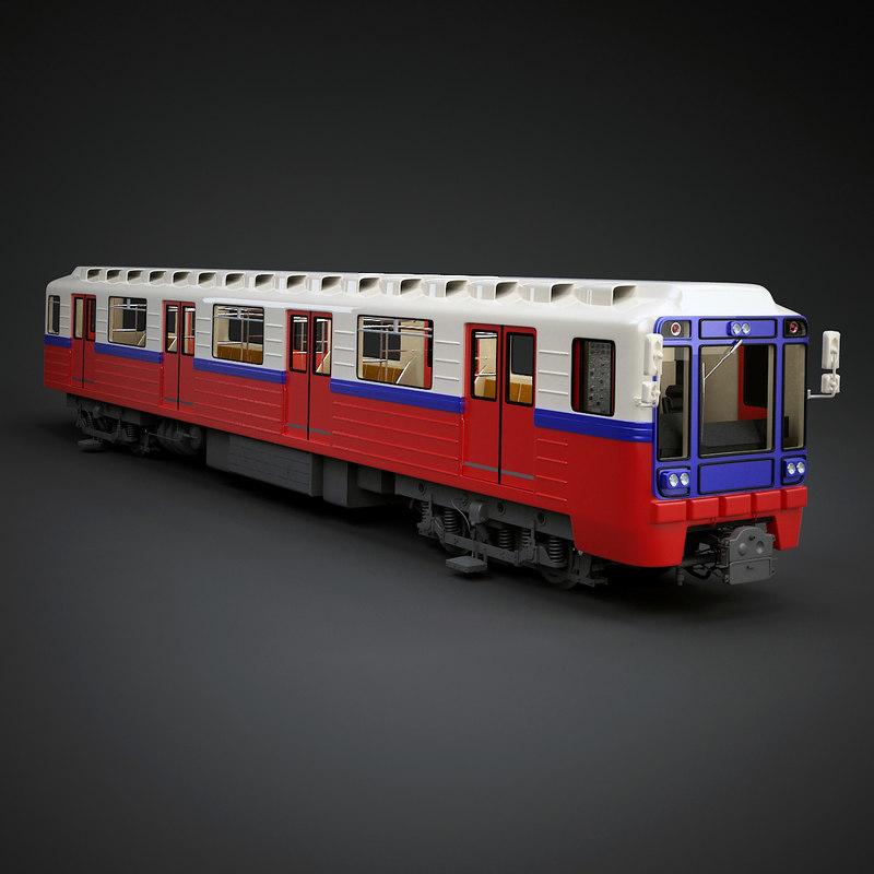 metro rolling stock 3d model
