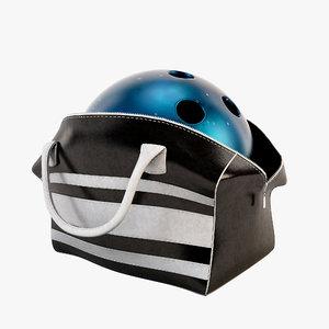 3d model bowling bag