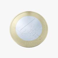 euro coin 3d max
