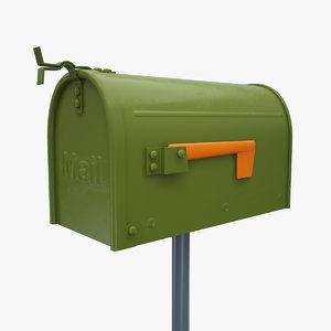 3d model small mail box