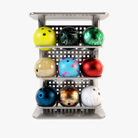 3d model bowling stand