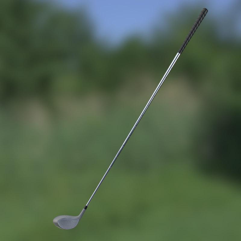 3d model driver golf club
