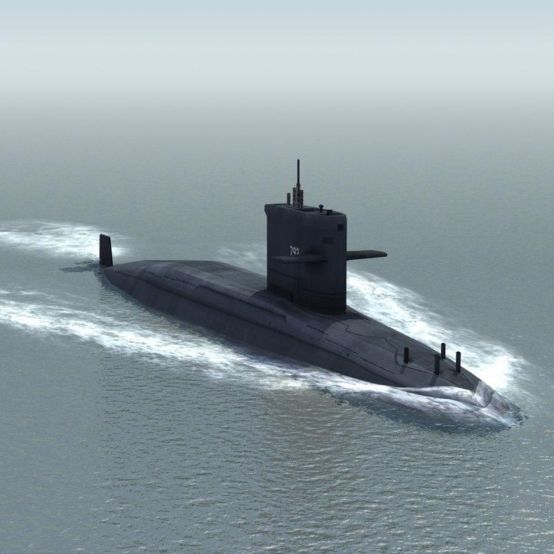 hai lung attack submarine 3d max