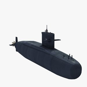 hai lung attack submarine 3d max