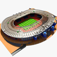 3d model hampden park stadium