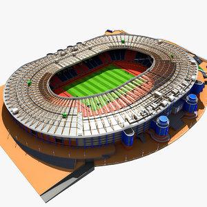 3d model hampden park stadium