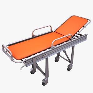3d model hospital stretcher bed
