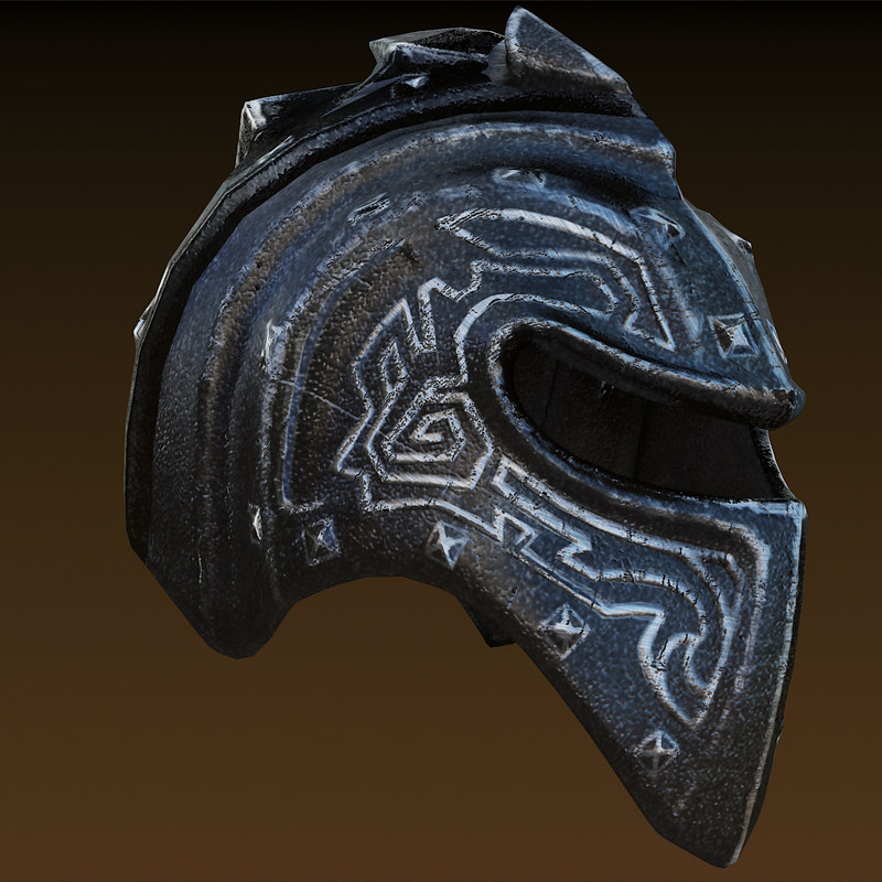 3ds max knight helmet