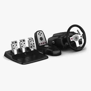 3d logitech g25 racing wheel