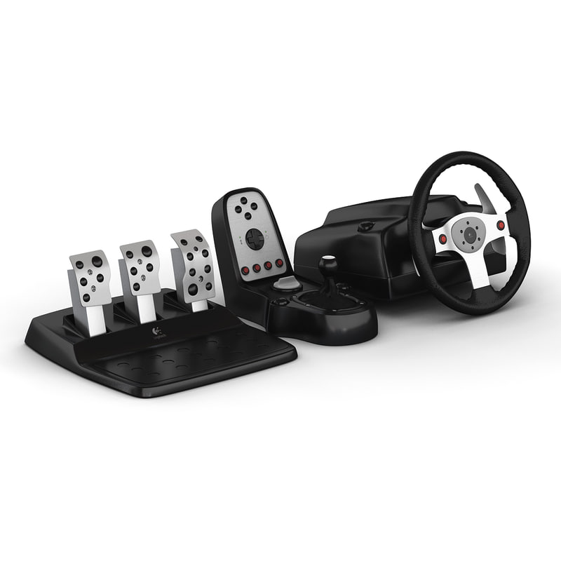 3d logitech g25 racing wheel