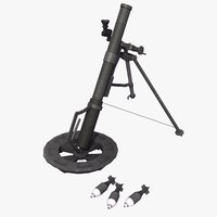 3d model m224 60mm mortar