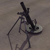 m224 60mm mortar 3d model