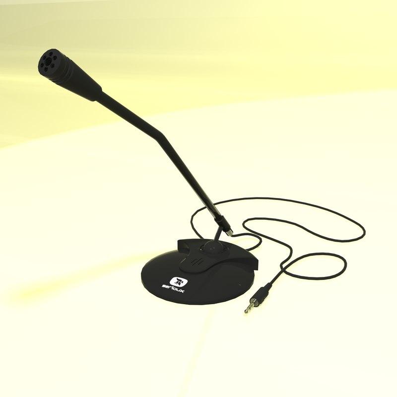 3d model serioux microphone