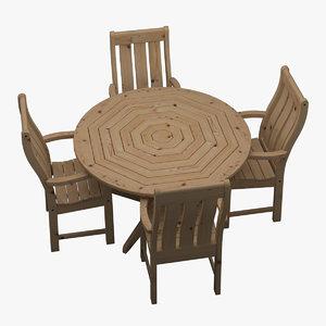 garden furniture set chair table max